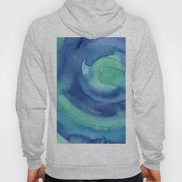 Abstract Blue Aqua Watercolor Painting Texture Hoody