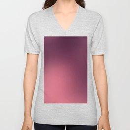 Modern abstract trendy burgundy pink gradient Unisex V-Neck