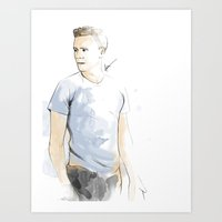 tom hiddleston Art Prints featuring Tom hiddleston by Theridingcrop