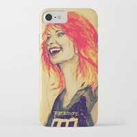 hayley williams iPhone & iPod Cases featuring Hayley Williams by Mary Agoncillo
