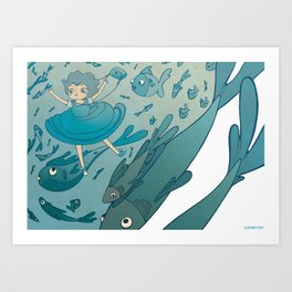 The puddle was an ocean full of fishes Art Print