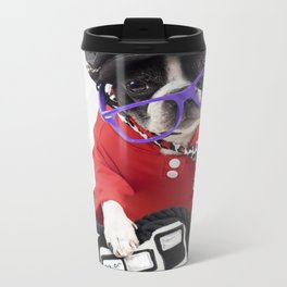 Boston Terrier Photographer Metal Travel Mug
