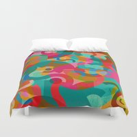 picasso Duvet Covers featuring Pattern Picasso by Tony Vazquez
