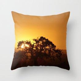 Napa Valley sunset Throw Pillow