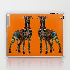 greyhound orange Laptop & iPad Skin