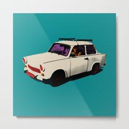 Trabant white pop Metal Print
