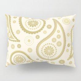 Paisley Funky Design Gold & Cream Pillow Sham