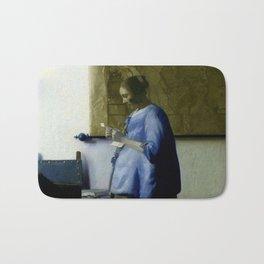 Vermeer, woman reading a letter,Mujer leyendo una carta,Brieflezende vrouw, Bath Mat