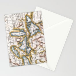 Vintage Map of The Great Lakes & Canada (1780) Stationery Cards