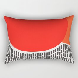 Sunshine And Rain Abstract Rectangular Pillow