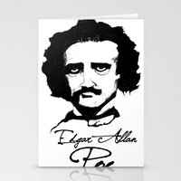 edgar allan poe Stationery Cards featuring Edgar Allan Poe  by SINPE