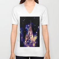 celestial V-neck T-shirts featuring Celestial Palace by WhimsyRomance&Fun