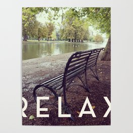 Relax in the Park Poster