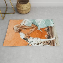 Pet Bound #pets #animals #animalslover #painting Rug