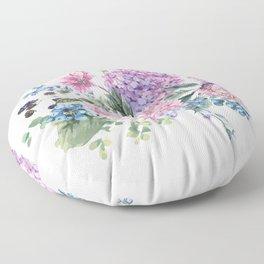 Summer Vintage Hydrangea Floor Pillow