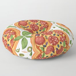 Cool Pizza Lover Pattern Floor Pillow