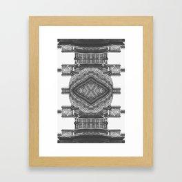 Architecture navajo b&w Framed Art Print