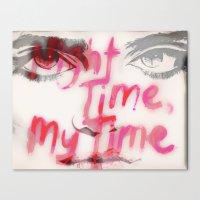 sky ferreira Canvas Prints featuring Sky Ferreira by Tara Kostick