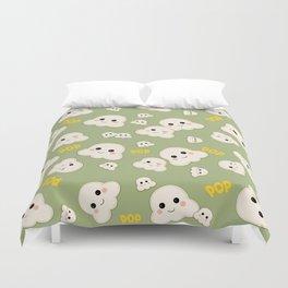 Cute Kawaii Popcorn pattern Duvet Cover