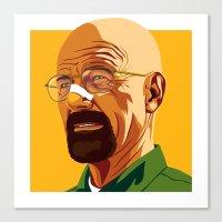 heisenberg Canvas Prints featuring Heisenberg by Stan Pro
