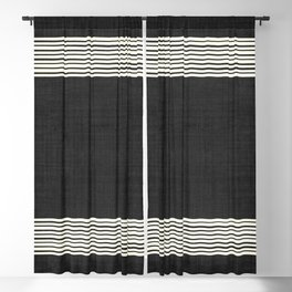 Band in Black and White Blackout Curtain