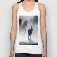 horses Tank Tops featuring Horses  by Gracy Dreamscape