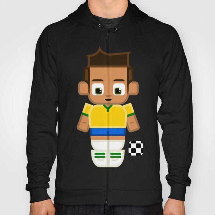 Football Soccer Brazil Hoody