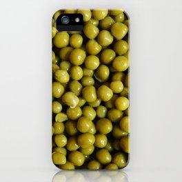 Background of peas iPhone Case