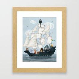 a nautical adventure Framed Art Print