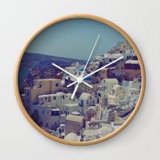 Oia, Santorini, Greece II Wall Clock