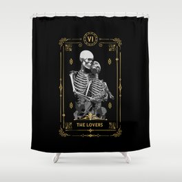 The Lovers VI Tarot Card Shower Curtain