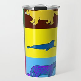 Arctic animals pop art Travel Mug