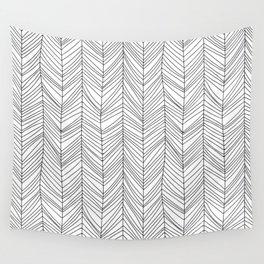 Wabi Sabi Herringbone Pattern Wall Tapestry