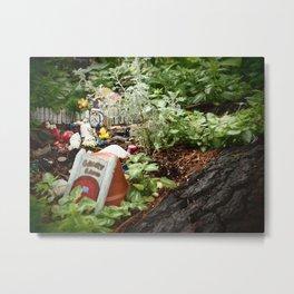 Homegrown Gnome Metal Print