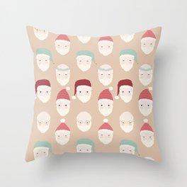Santas - Mocha Throw Pillow