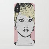 jennifer lawrence iPhone & iPod Cases featuring Jennifer Lawrence by CBDB