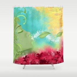 Releasing Shower Curtain