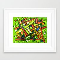 oakland Framed Art Prints featuring Uptown Oakland by Octavious Sage