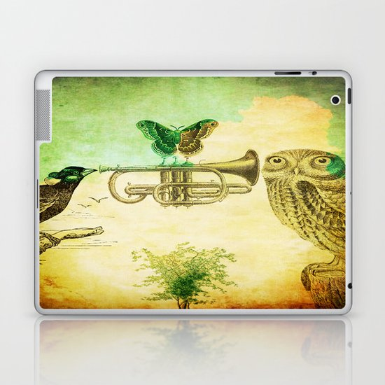 Music of birds Laptop & iPad Skin