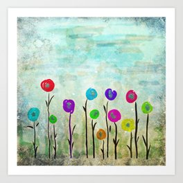 Wicked little flowers. Art Print