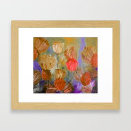 Breaking Dawn in Shades of Gold, Peach and Violet Framed Art Print