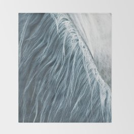 Horse mane photography, fine art print n°1, wild nature, still life, landscape, freedom Throw Blanket