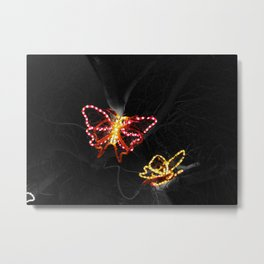 Light in Flight - Selective Coloring Metal Print