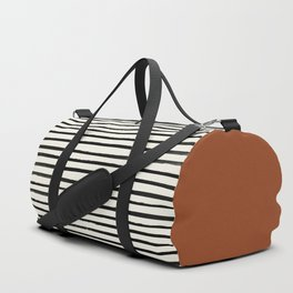 Burnt Orange x Stripes Duffle Bag