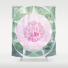 Watermelon Geometery Shower Curtain