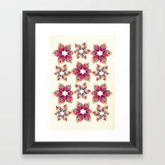 Autumn Flowers Pattern Framed Art Print