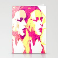 faces Stationery Cards featuring Faces by Paola Rassu