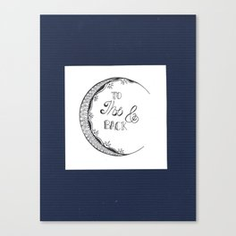 To The Moon & Back Canvas Print