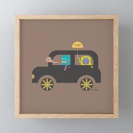 PINTMON_BLACK CAP Framed Mini Art Print