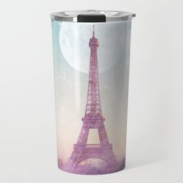 I LOVE PINK PARIS EIFFEL TOWER - Full Moon Universe Travel Mug